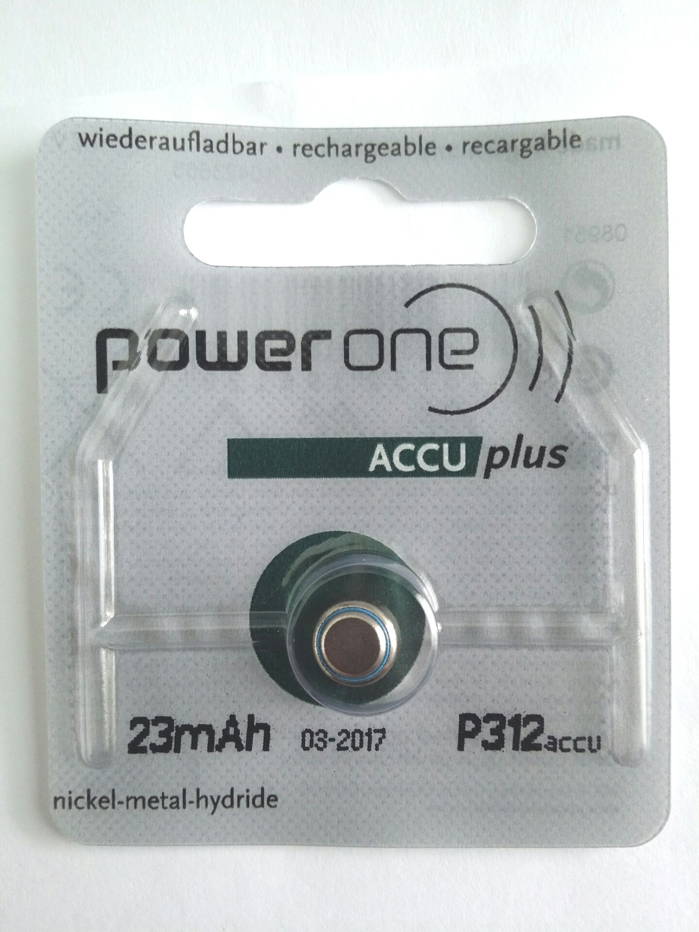 Power One ACCU Plus - Rechargeable Battery