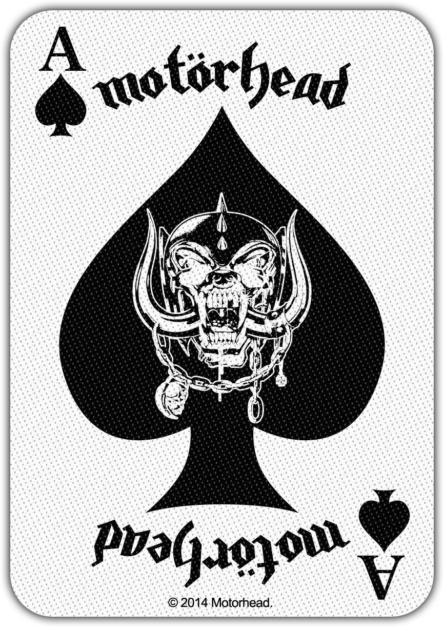Motorhead 'Ace Of Spades Card' Woven Patch