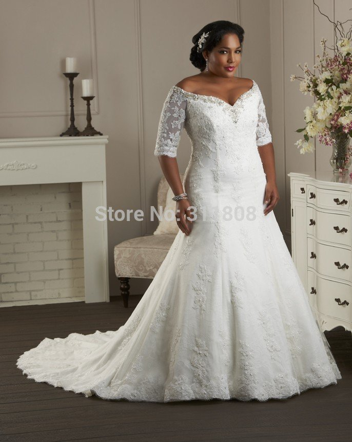New arrival ivory organza mermaid sweetheart super plus for Plus size trumpet wedding dress with sleeves