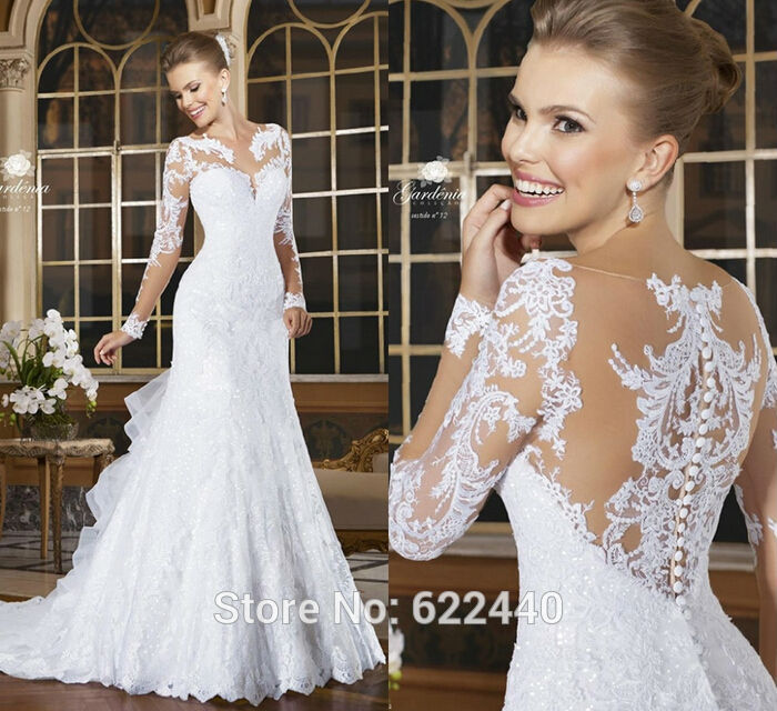 8a96add9166 Ivory Tulle and Lace Short Train Flowers Bridal Mermaid Wedding- US Size 2  to 24W