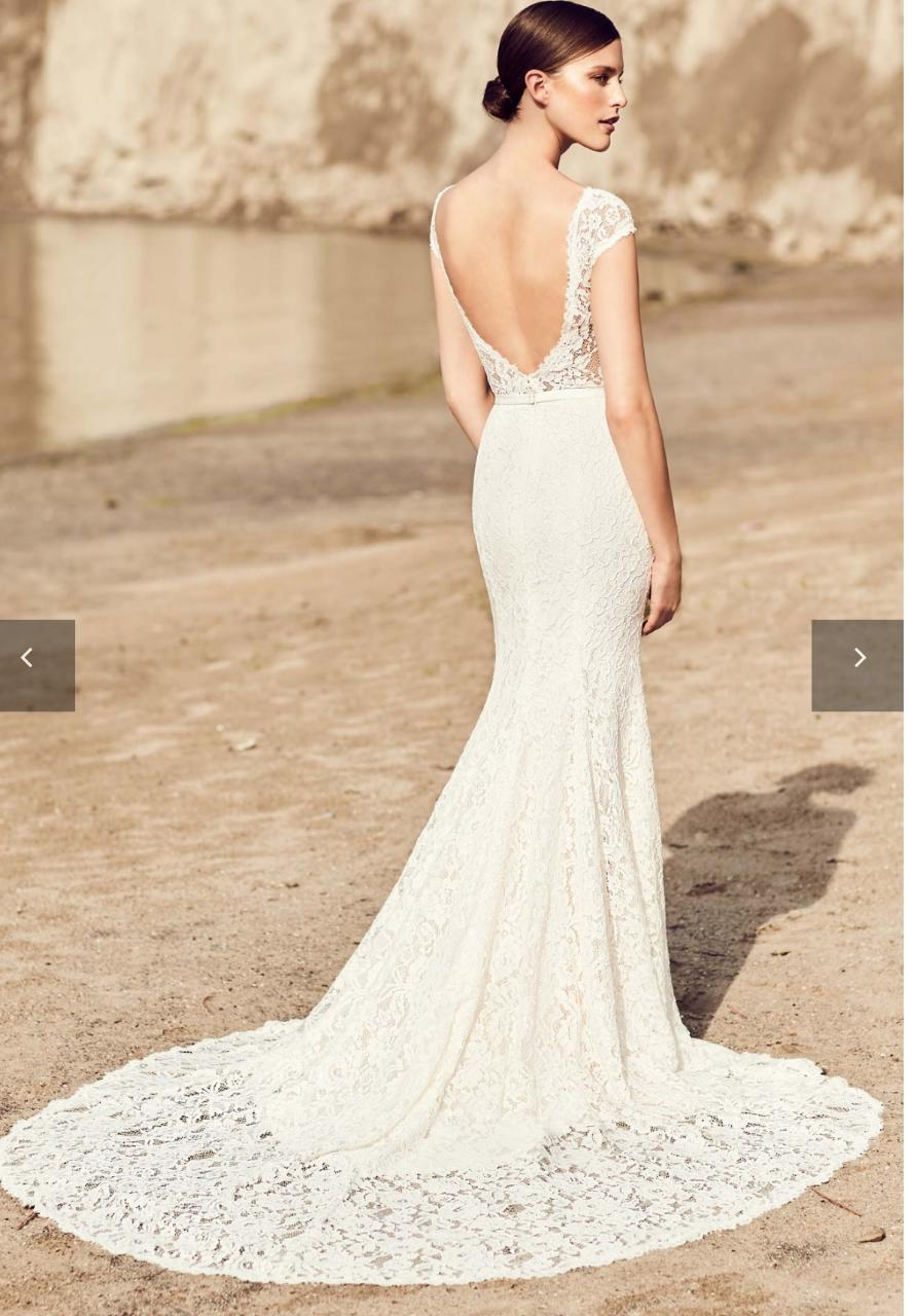 A Line Wedding Dress.Ivory Lace A Line Wedding Dress