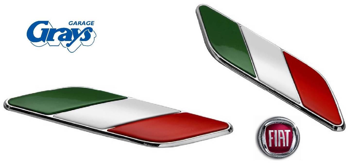 Fiat Italian Badge Set Fiat 500 Badges Fiat Badge Set