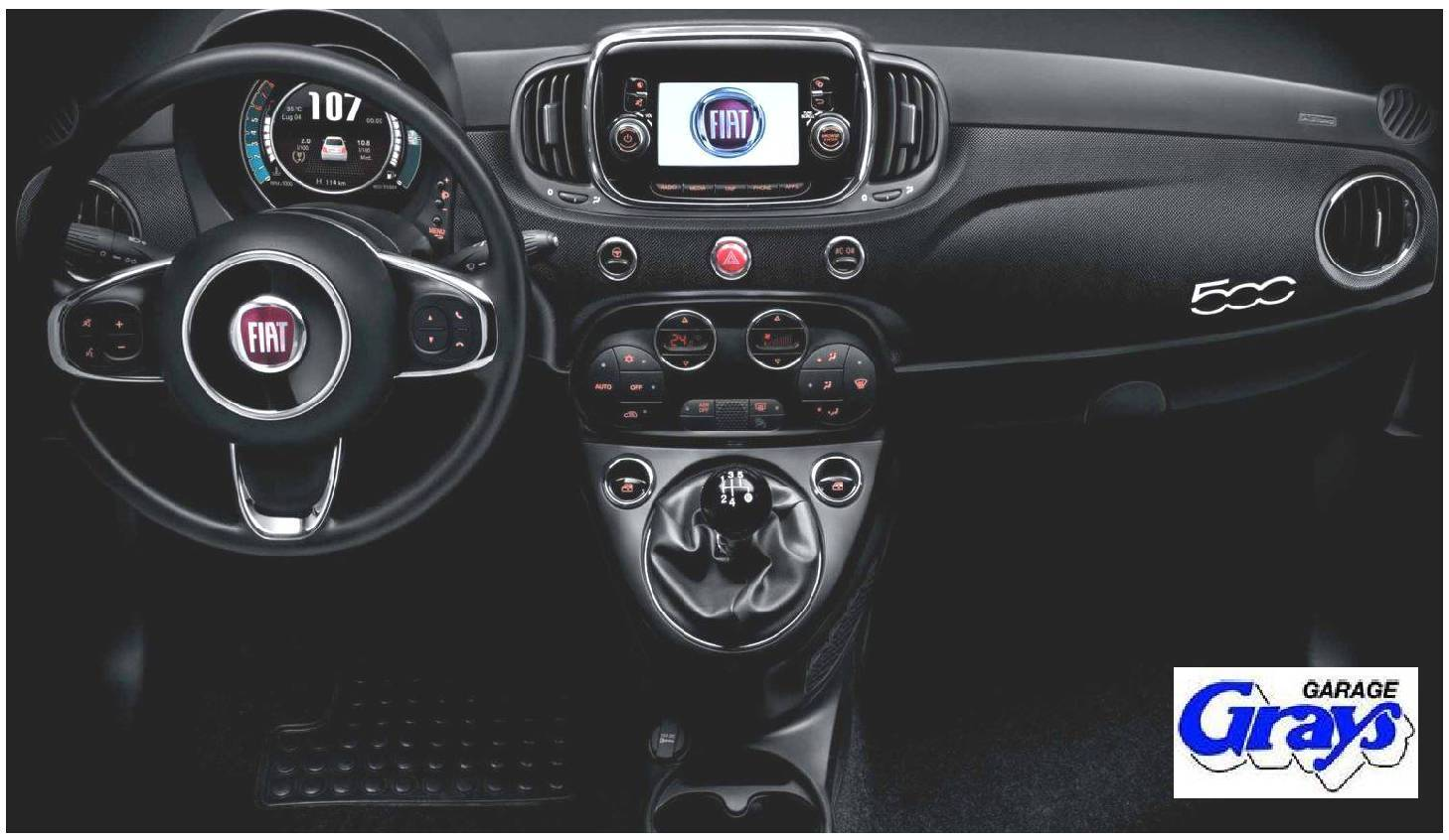 Fiat 500 Micro Carbon Wrapped Dashboard Rhd Kit