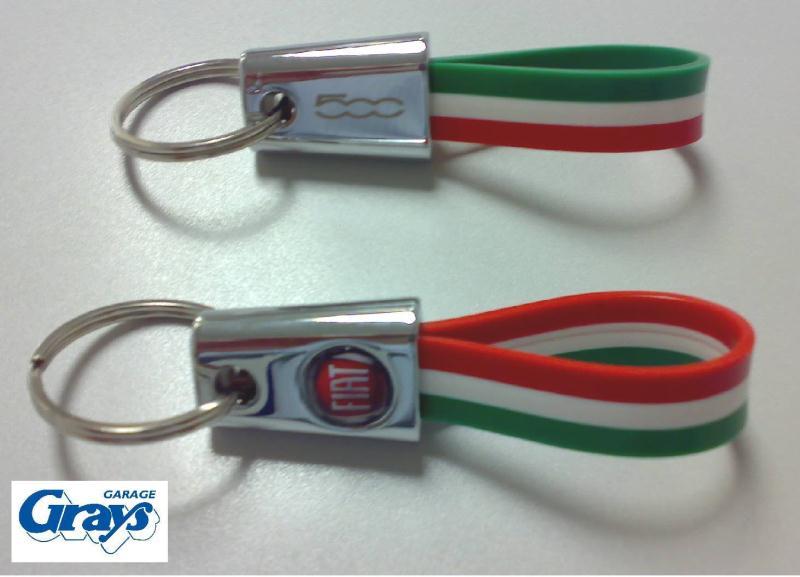 Fiat 500 Keyring Italian Flag Fiat 500 Keyring Keyring