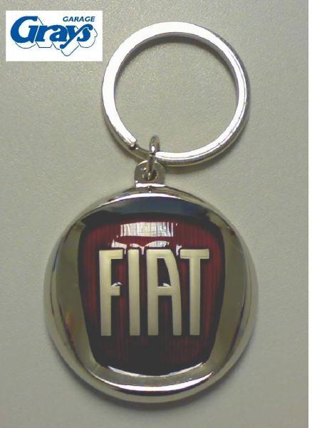 Fiat Keyring Red Logo