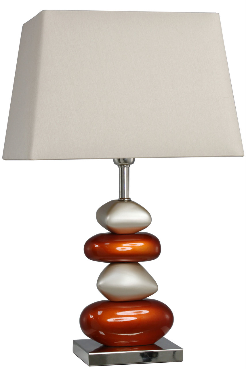 Pebble large table lamp terracotta for Large pebble floor lamp
