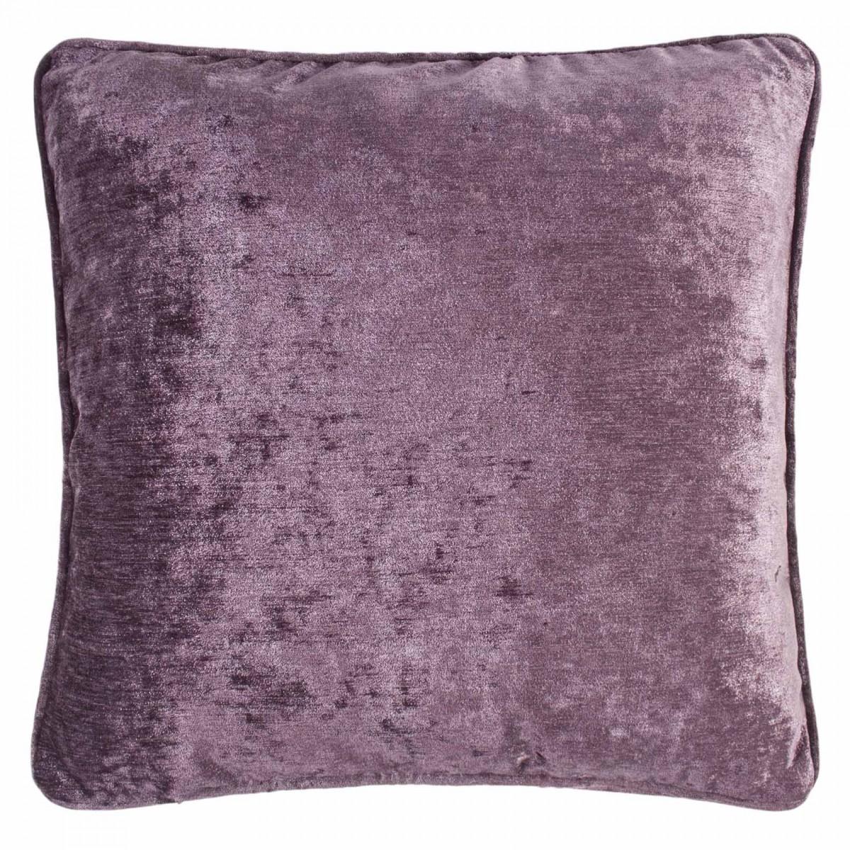 Velvet Feather Filled Cushion Mauve