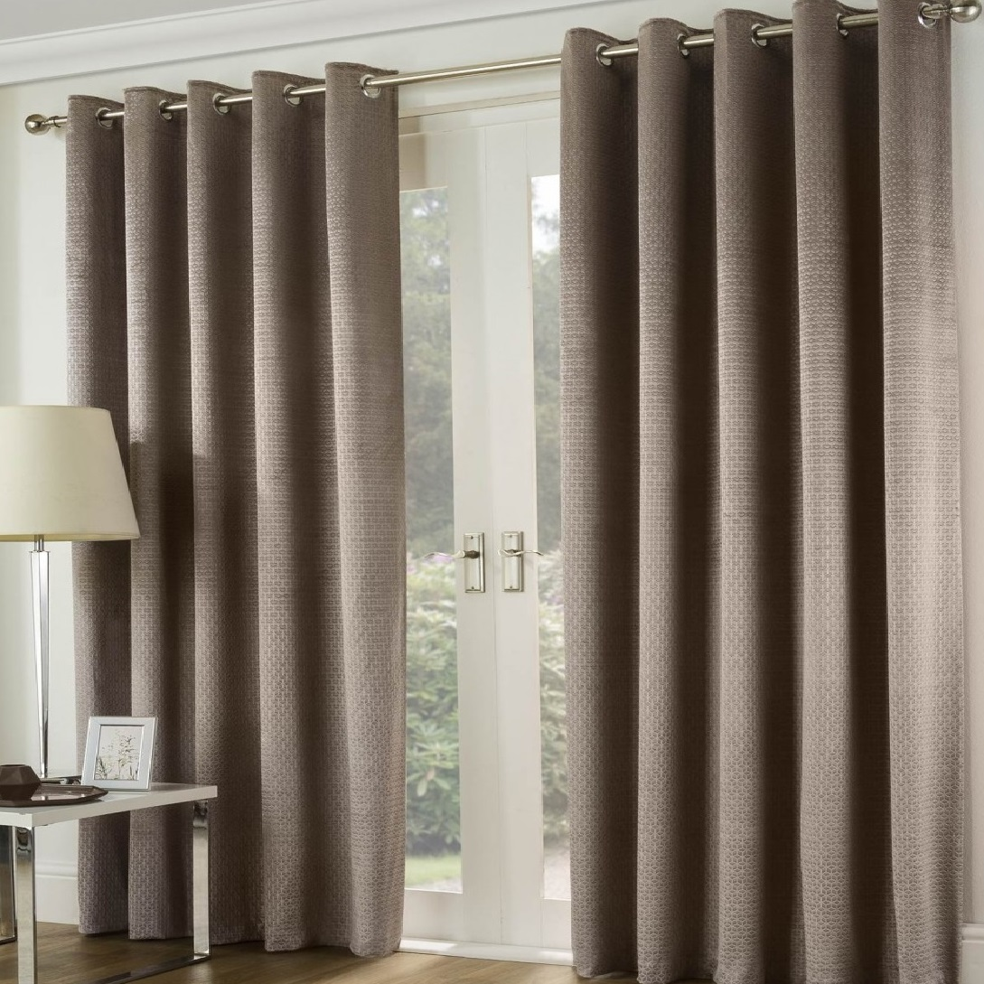 Curtains And Home Decor Inc Bari 66x72 Eyelet Lined Curtains Champagne