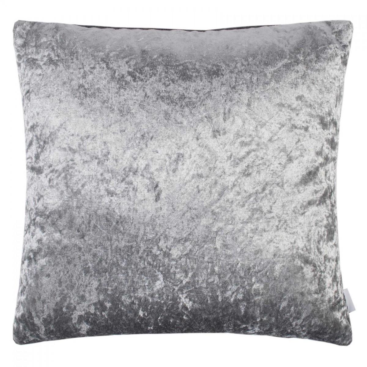 Lustre Velvet Feather Filled Cushion Silver