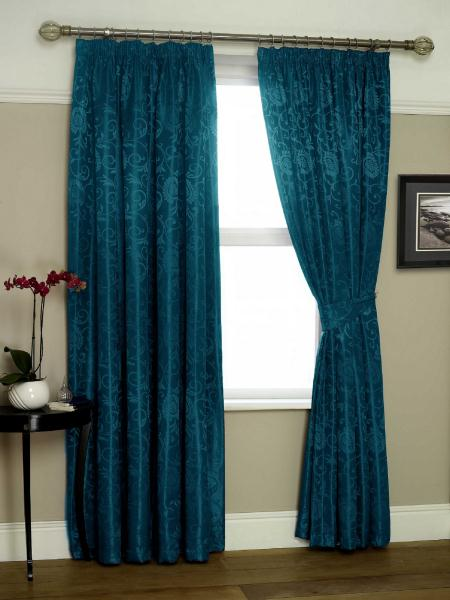 Eton Lined 90X90 Teal Curtains