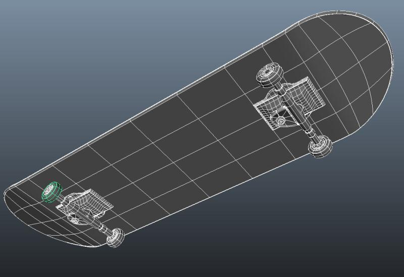 skateboard using nurbs only - bottom