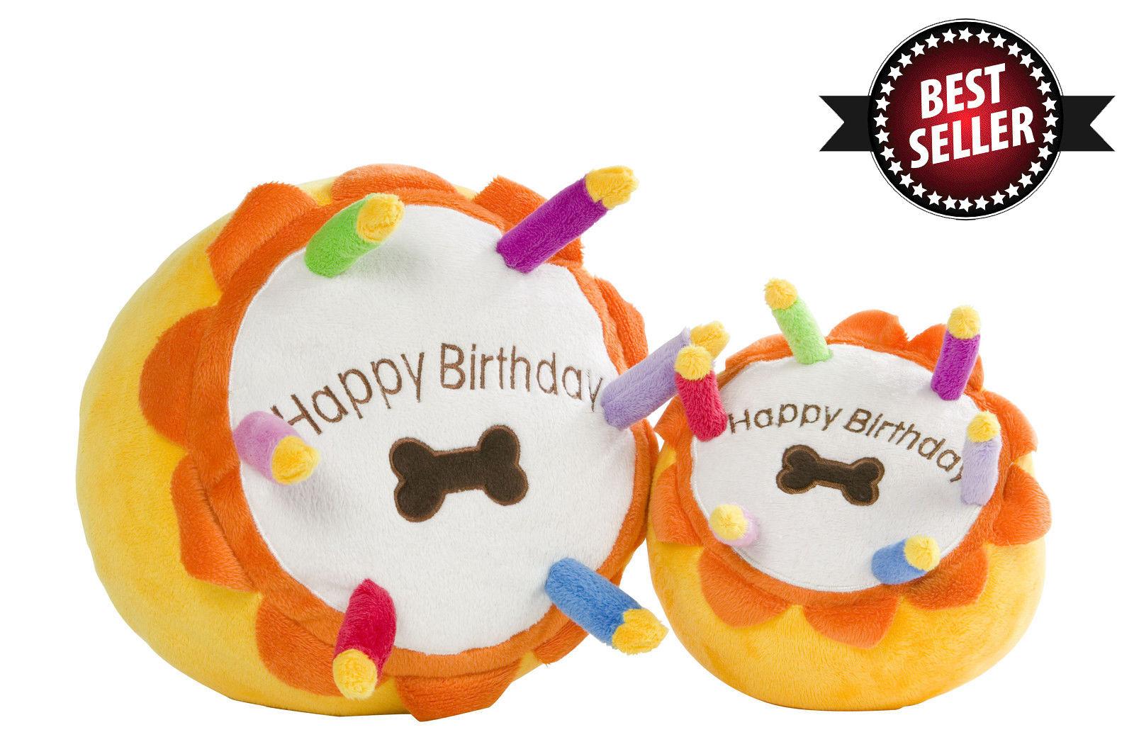 Happy Birthday Dog Cake Toy