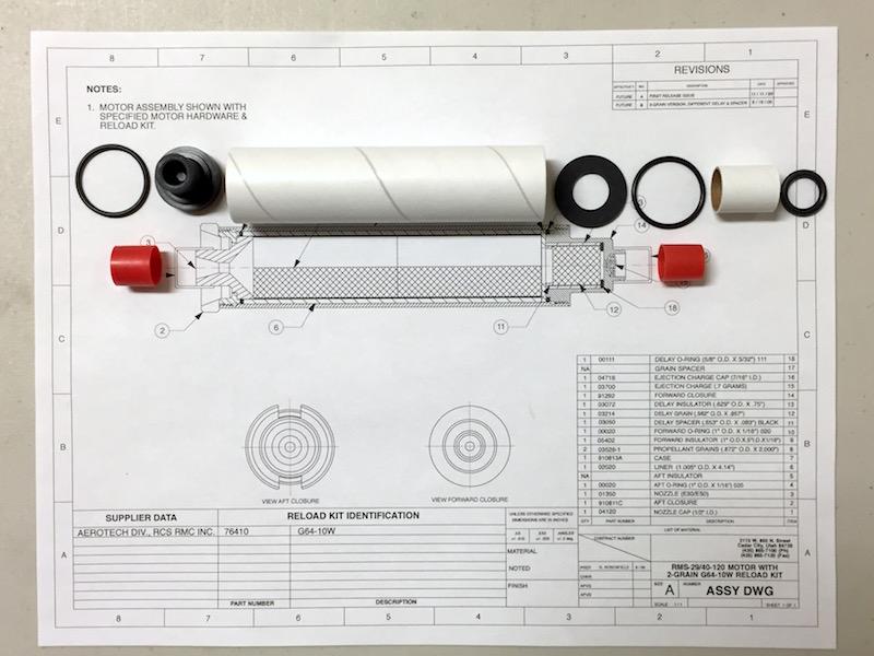 29/40-120 EMK™ Model Rocket Experimental Motor Kit-Medium Throat