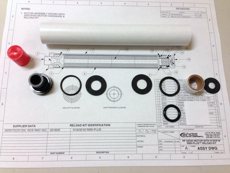 29/240 EMK™ High Power Experimental Motor Kit- Paper Liner