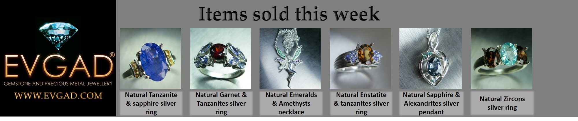 Silver rings and pendants in demand