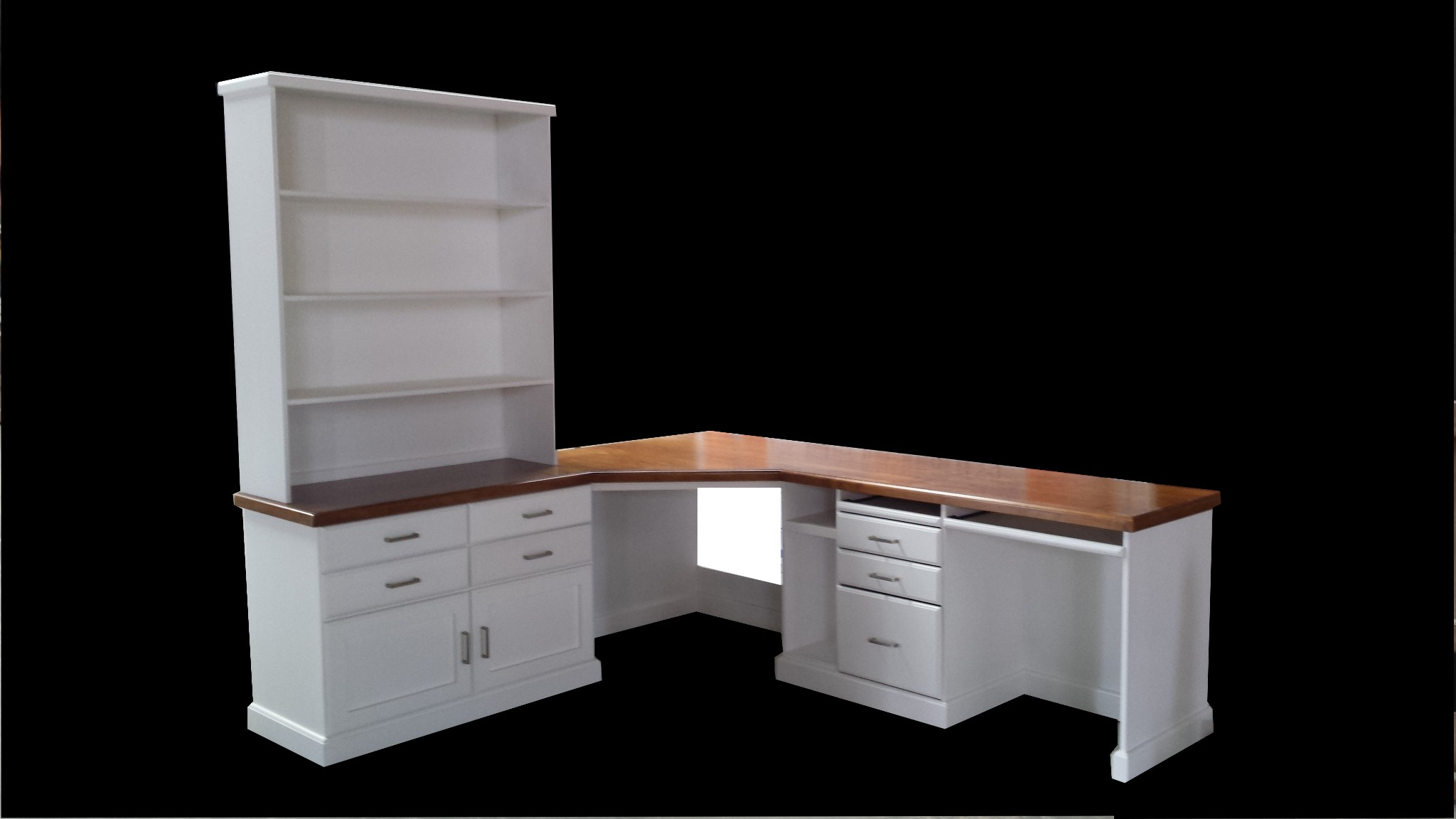 Custom Large Corner Desk Hutch