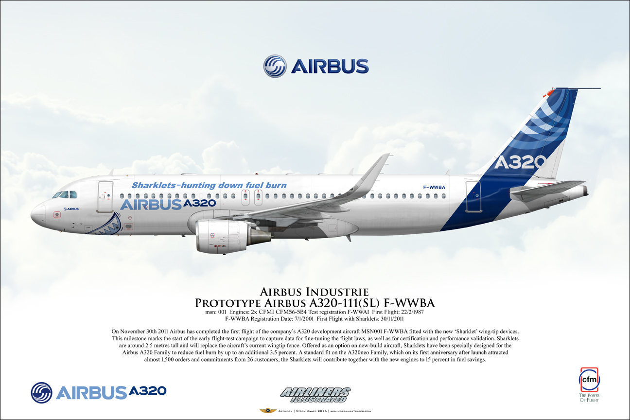 Airliners Illustrated® Airbus Industrie Airbus A320-111 F ...