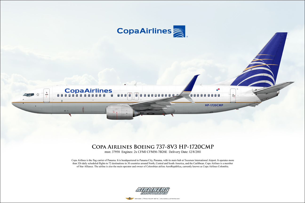 Copa Airlines Boeing 737 8v3 Hp 1720cmp