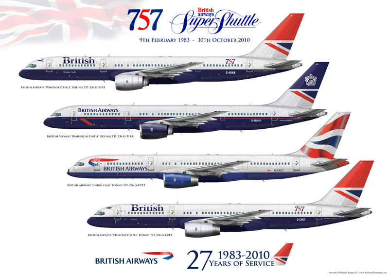 British Airways Boeing 757 236 Negus Landor Union Flag