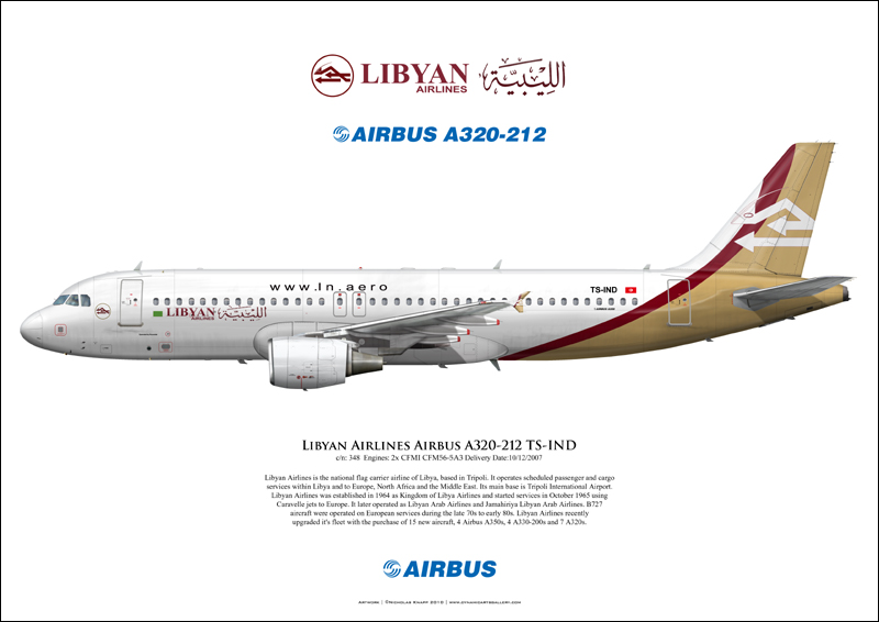 Libyan Airlines Airbus A320 212 Ts Ind