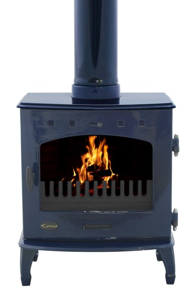 Carron 4 7kw Enamel Finish Cast Iron Multi Fuel Stove In
