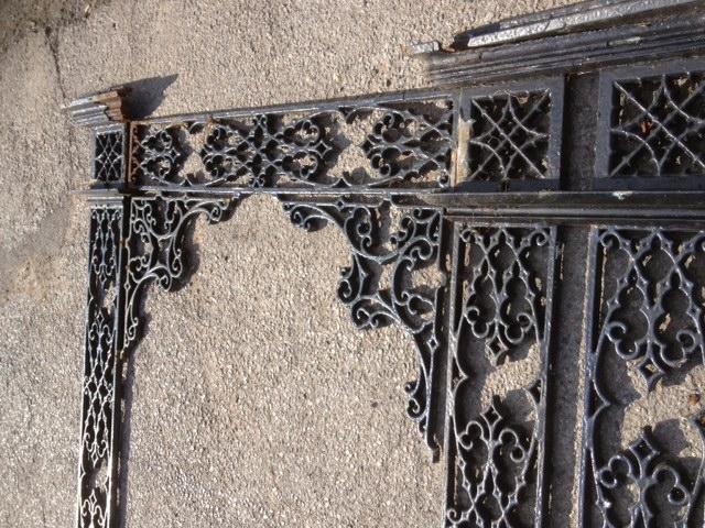 Original Victorian Cast Iron Canopy Frame & Victorian Cast Iron Canopy Frame
