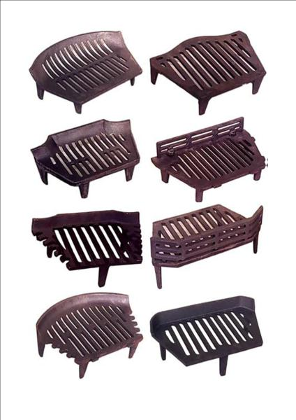 Replacement Grates for Cast Iron Fireplaces SPARES Replacement Bottom Grates Cast Iron Fireplaces. Cast Iron Construction Top Quality Authentic Reproductions to fit a wide range of Fireplaces. Various Sizes and Designs Available When measuring your fireplace for any missing parts