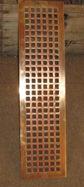 Reclaimed Art Deco Brass Bronze Air Vents Heating Grills