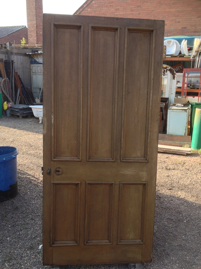 Beautiful Oak Linenfold Door Dated C 1840