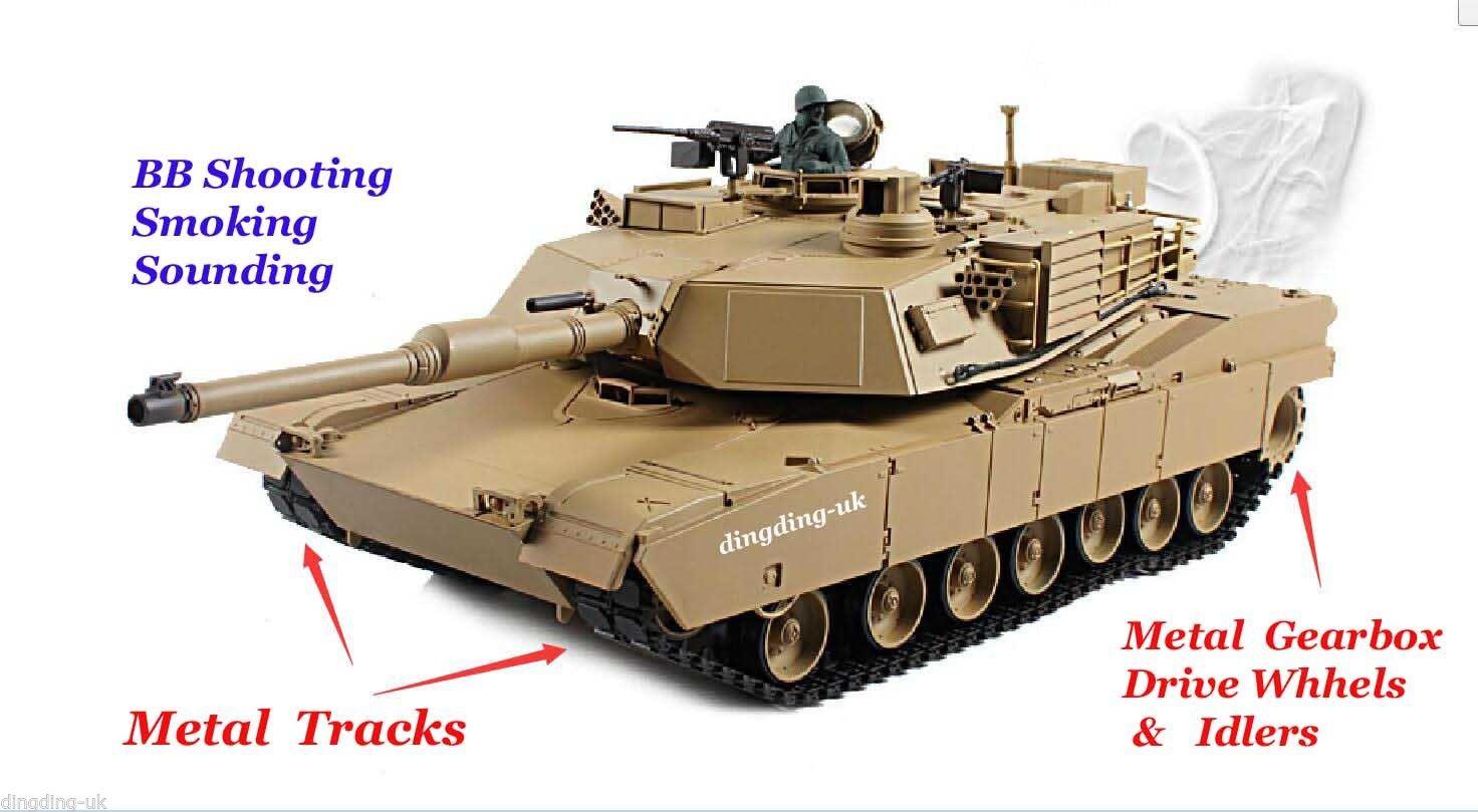 Heng Long radio remote control RC tank Abrams M1A2 1/16 ...