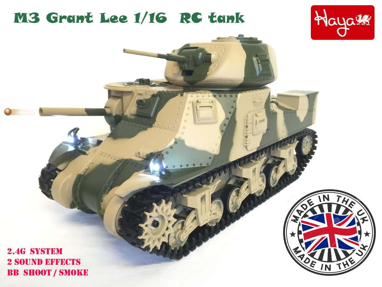 M3 Grant Lee 1/16 Radio Remote Controlled RC Tank