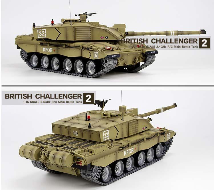 67432d917099 Heng Long British Challenger 2 RC Tank 1 16 - Platinum Version