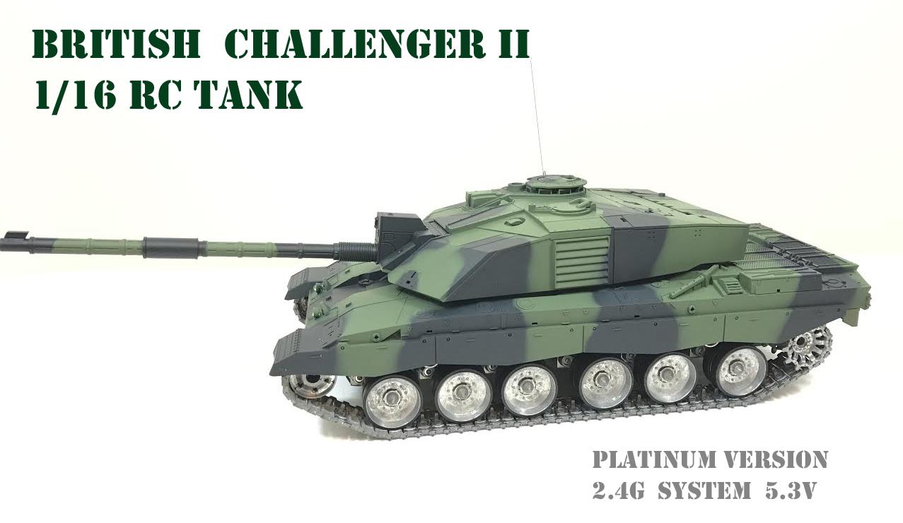 02ab83d7018f Heng Long British Challenger 2 RC Tank 1 16 NATO Camouflage - Platinum  Version