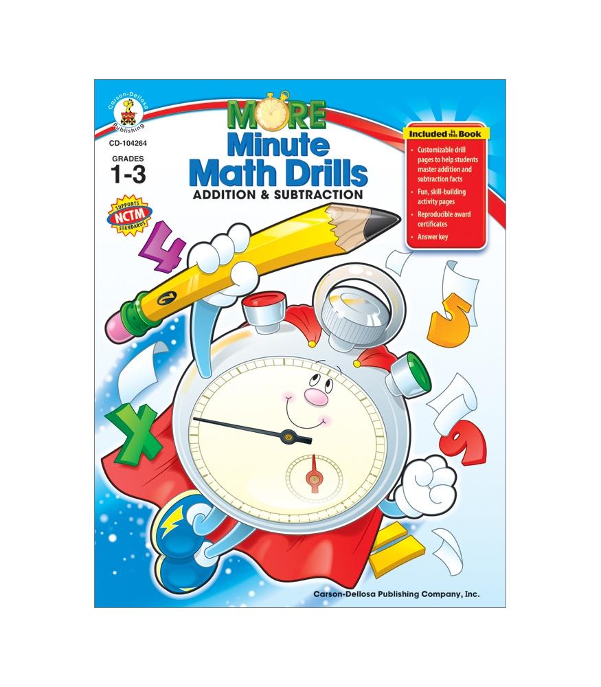 More Minute Math Drills Resource Book Gr  1–3