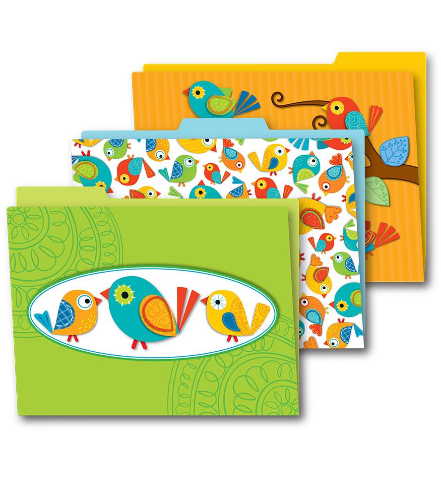 Boho Birds File Folder 6