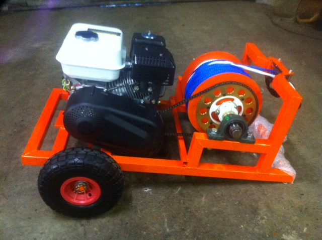Orange wakeskate winch
