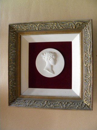Victorian Cameo Carved Plaster Portrait