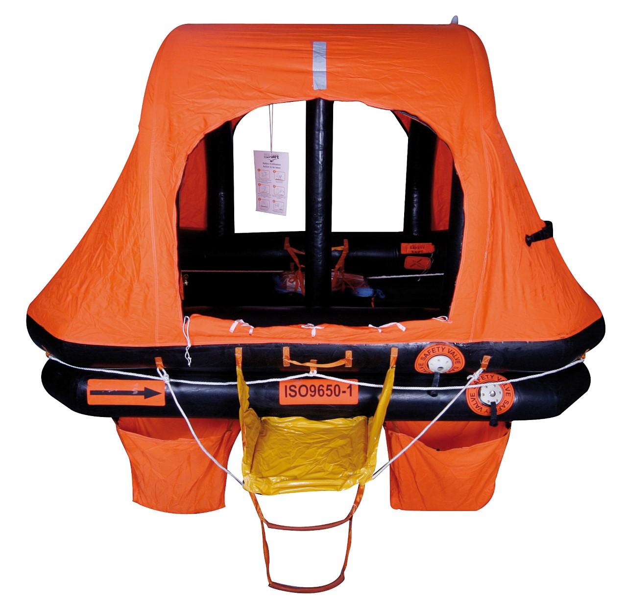 6 Person Sea-Safe KHY ISO 9650 Self Righting Liferaft 24 Hr/ SOLAS B