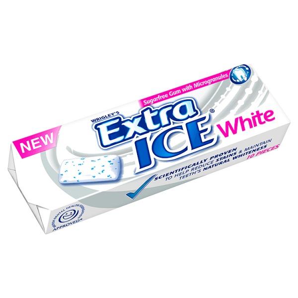 Extra Ice White Sugarfree Chewing Gum Stick Packs