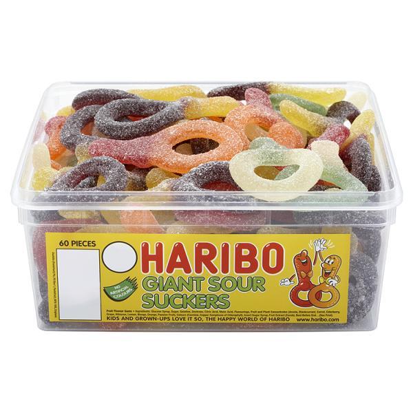 Haribo Giant Sour Suckers Sweets