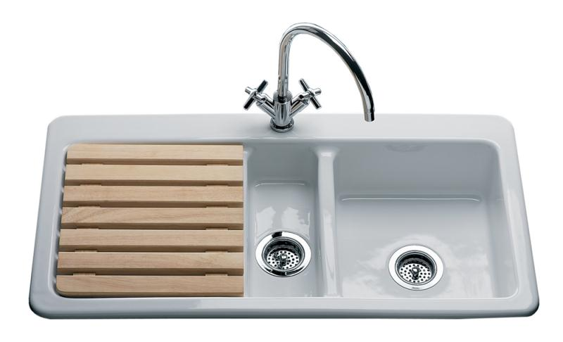 Ceramic Kitchen Sink With Drainer : Lansdowne Oakwood Sink Left Hand Drainer 1 Tap Hole