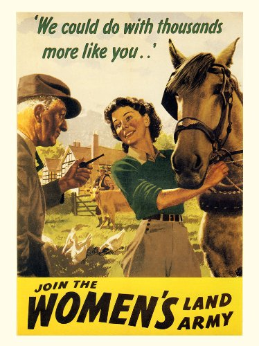 WW2 Join The Womens Land Army Poster