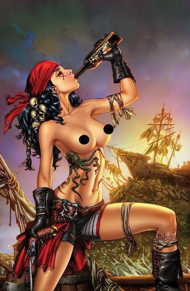 nude naughty pirate women