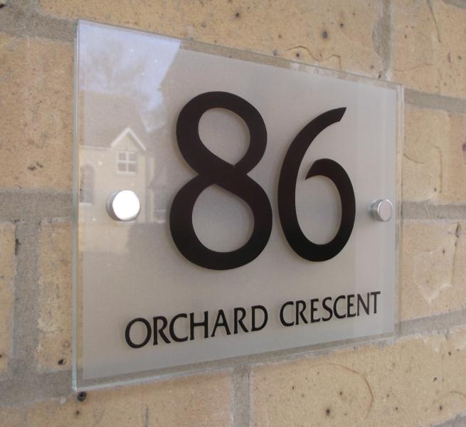 b554d3c00bce Modern House, sign, number, address, plaque,