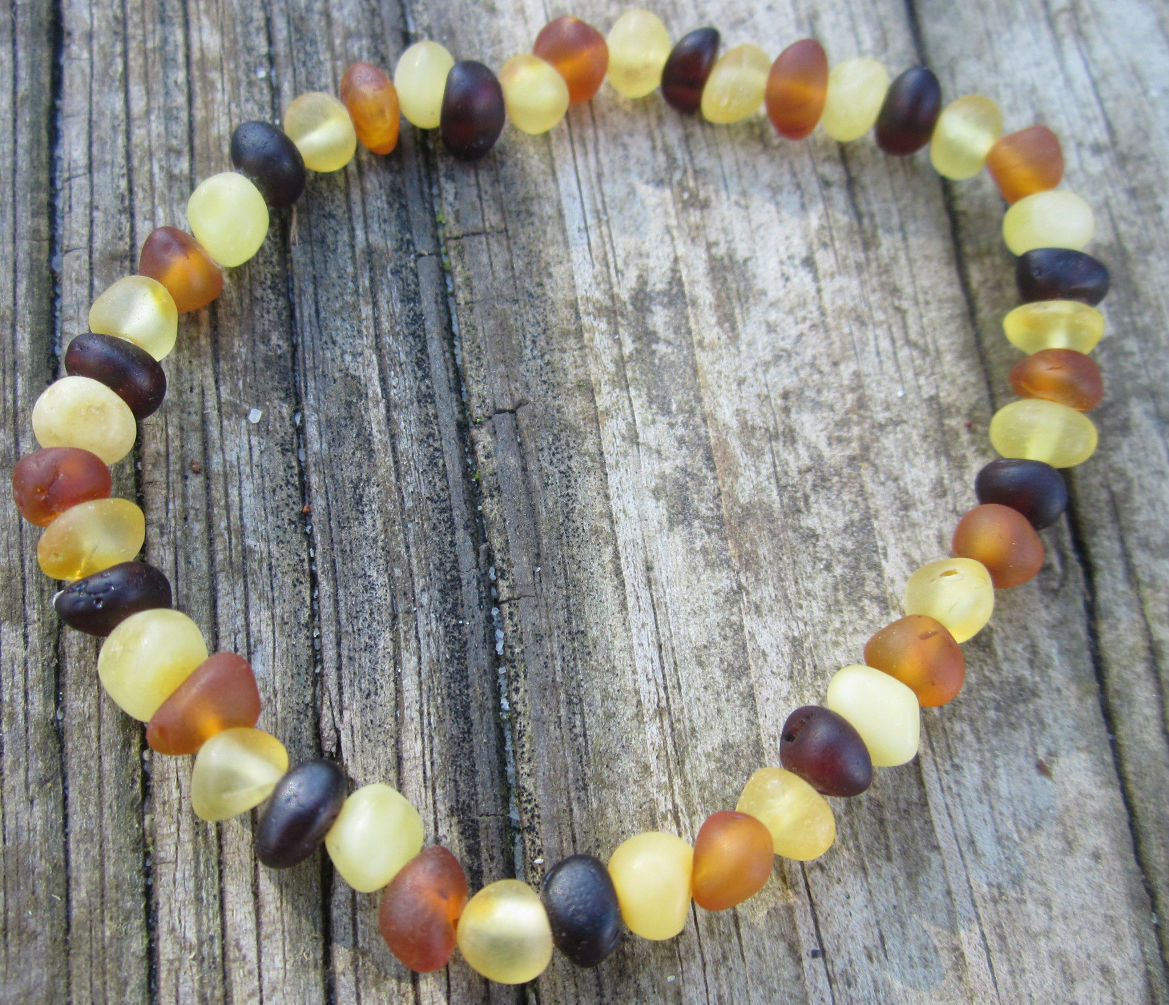 Stunning Raw Baltic Amber Stretch Bracelet Quot Rainbow Raw Quot