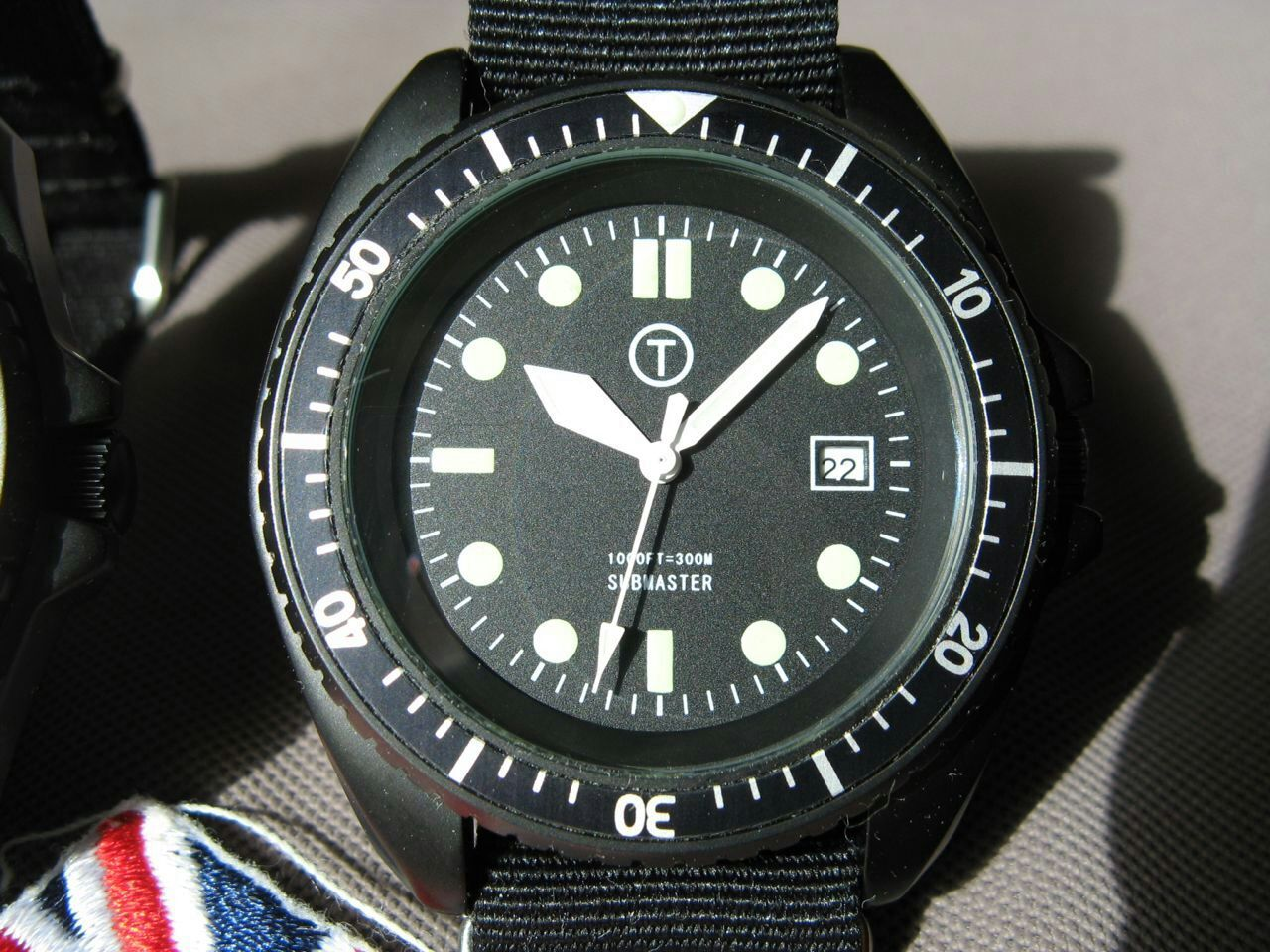 cooper submaster sas sbs military pvd divers watch 300m