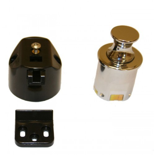 Push knob latch chrome T50 & T60