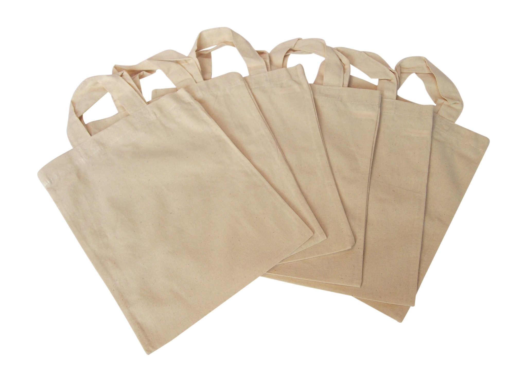 Natural Cotton Fabric Tote Party Goody Loot Bags