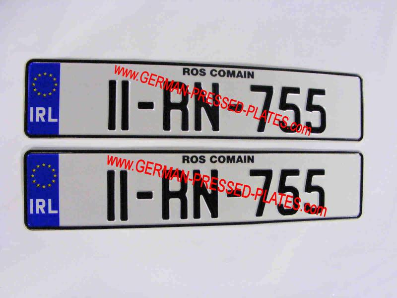 NCT Number Plates that are made of pressed aluminium and will outlast plastic plates & NCT Number Plates that are made of pressed aluminium and will ...