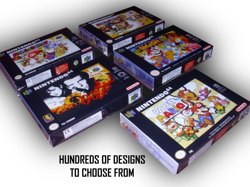 nintendo 64 replacement game boxes